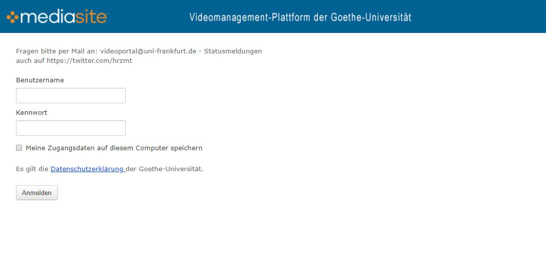 Videoportal Uni Frankfurt
