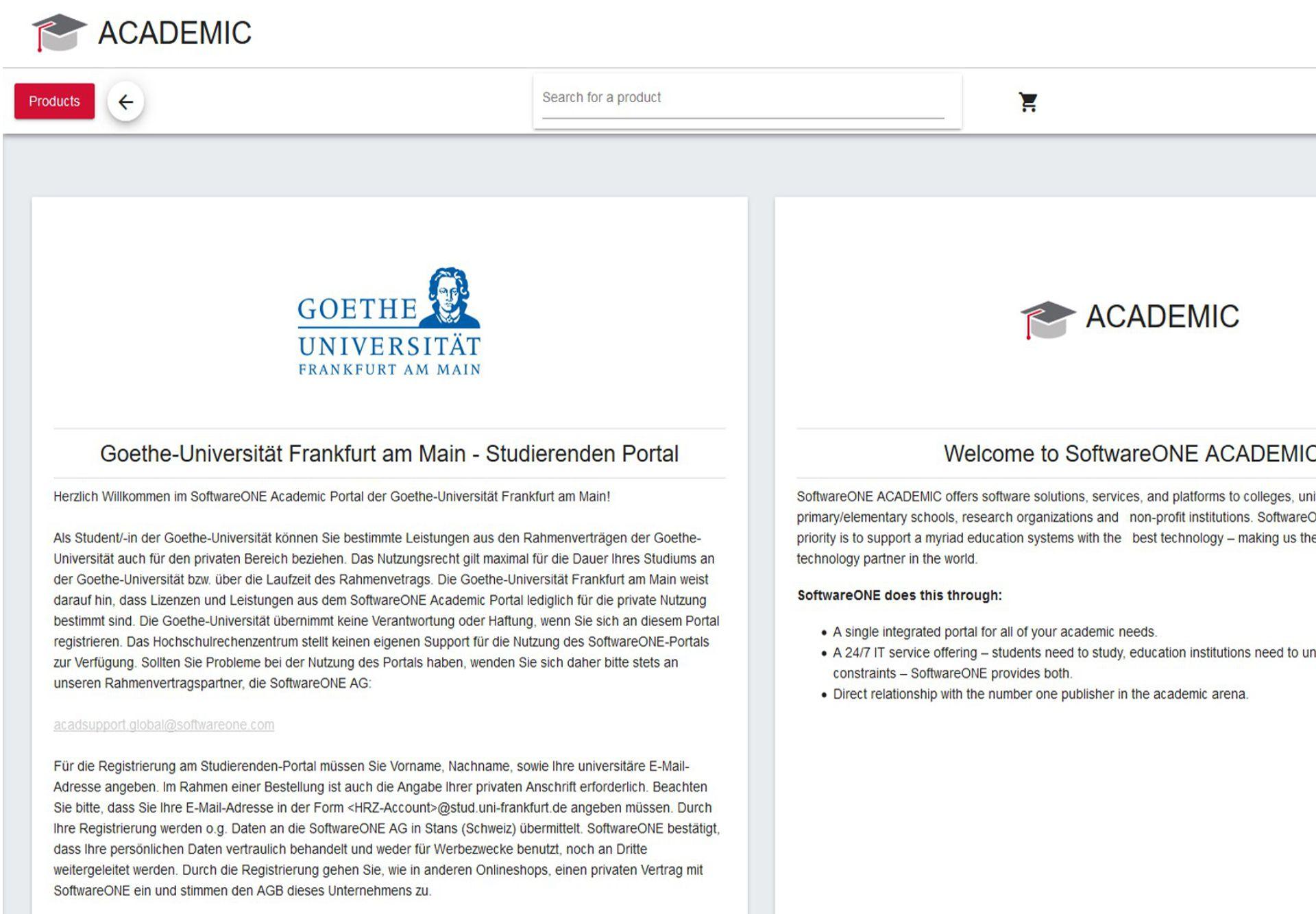 Goethe Universität — hrz login portal